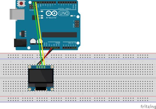 OLED LCDディスプレイ Arduino